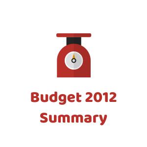 Budget 2012 Summary