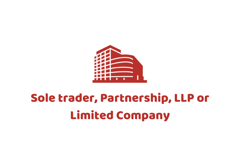 Sole trader, Partnership, LLP or Limited Company