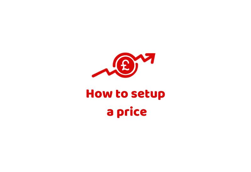 How to setup a price