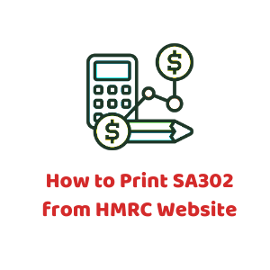 How to print SA301 from HMRC Website