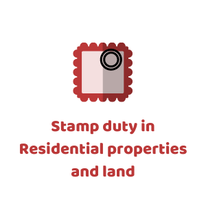 Stamp duty in Residential properties and land