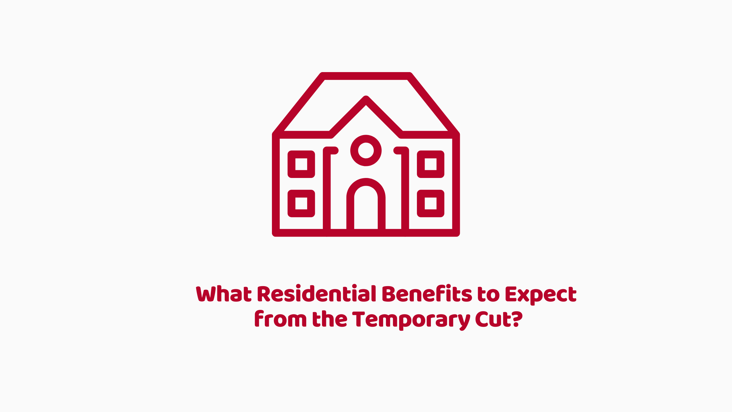 Residential Benefits from SDLT Temporary Cut