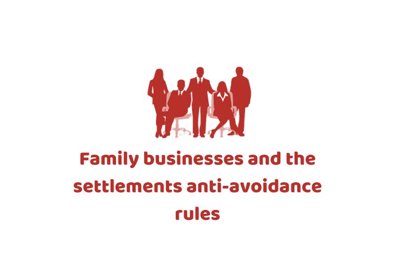 settlements anti avoidance rules