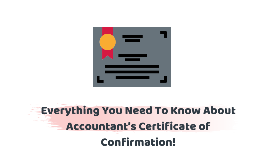 accountant's certificate of confirmation