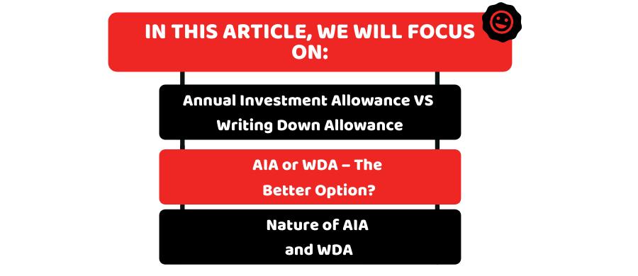 Annual Investment Allowance VS Writing Down Allowance